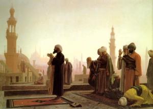 Modlitwa muzułmanów w Kairze
