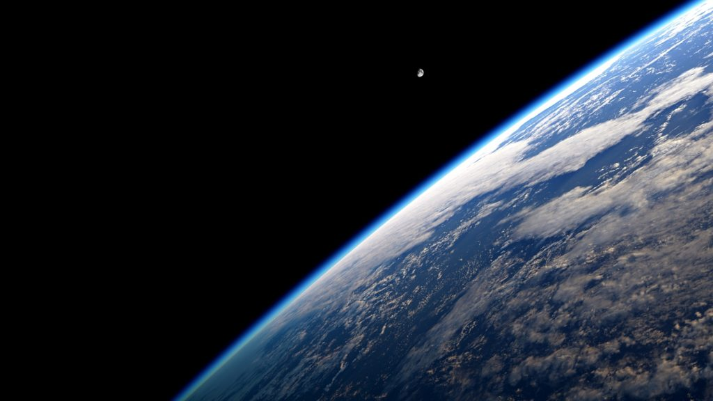 earth atmosphere and night