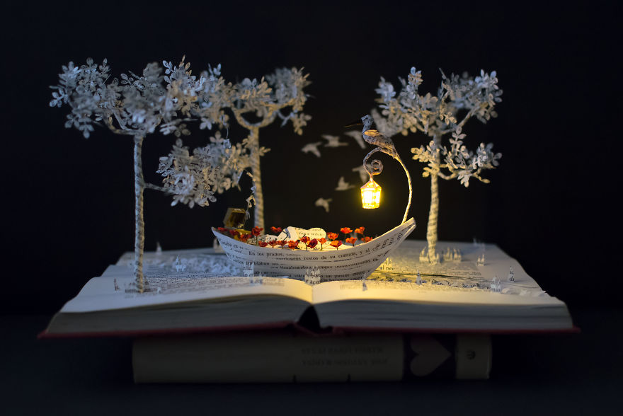 book sculptures are my pation i work with paper to create elaborated forms ffff